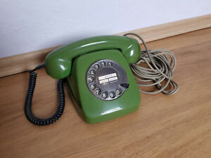 Wählscheibentelefon Altes Post Telefon Grün FeTAp611-2a guter Zustand ungeprüft