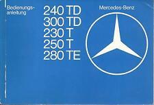 MERCEDES E-KLASSE S123 Kombi Betriebsanleitung 1979 Handbuch Bordbuch  BA