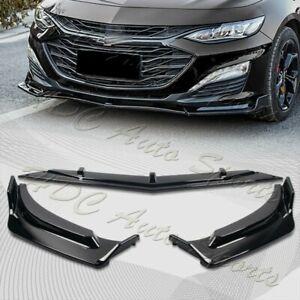 For 2019-2021 Chevrolet Malibu Painted Black Front Bumper Body Kit Spoiler Lip