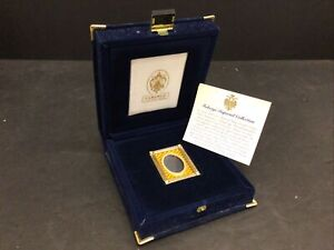 """New In Box Faberge Small Vertical Yellow Frame 2 1/8"""""""