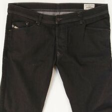 Mens Diesel DARRON 0064U Stretch Slim Tapered Black Jeans W38 L34
