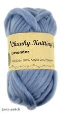 Knitting Crochet Yarn thick soft Super Bulky 5 x 60g - Lavender Blue - 30m