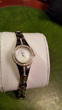 ladies limit silver dress watch,crystal set dial,mother of peal face,#b3