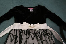 Girls Emily West size 10 Dress black velour lace satin pagaent holiday party