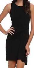 NWT Women's VC4M8118 Vince Camuto BLACK COCKTAIL DRESS  with Ruched Front Size 2