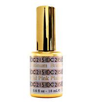 DND DC Platinum Bridal Pink 215 Glitter Gel LED/UV Gel Polish 6oz 18ml