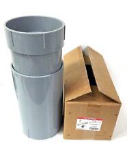 "Carlon E945R 6"" Nonmetallic PVC Expansion Joint Fitting - SCH 40 - Gray"