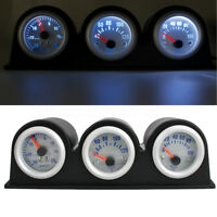 Kit Relojes 52mm Medidor Indicador Turbo Boost  Temperatura Presion Aceite Coche