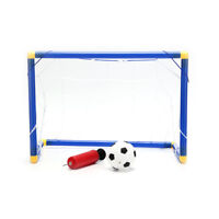 Folding Mini Football Soccer Goal Post Net Set with Pump Kids Sport Toy_CH