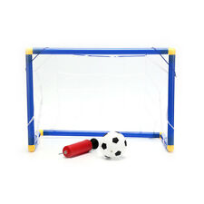 Folding Mini Football Soccer Goal Post Net Set with Pump Kids Sport Toy TT