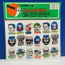 Universal monsters puffy stickers vtg unique SEALED halloween Frankenstein Mummy