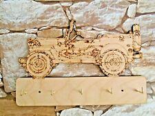 Jeep Militar estadounidense de Madera Diseño Llavero-corte láser y grabado 5 Ganchos