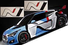 2x Hyundai N Sport Logo Aufkleber Sticker Tuning  i20 i30 i40 100mm schwarz