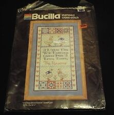 "Bucilla Stamped Cross Stitch kit "" Cherished Kitchen"" # 40397 NIP"