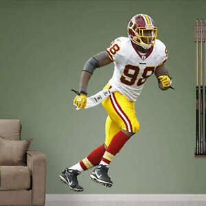 Brian Orakpo FATHEAD Redskins White Jersey LIFESIZE Only REAL BIG NFL Graphics