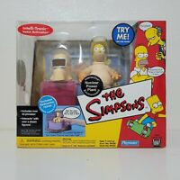 Playmates The Simpsons NUCLEAR POWER PLANT PlaySet RADIOACTIVE HOMER Figure WOS