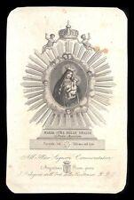 santino incisione 1800 MARIA SS. DELLE GRAZIE-PORTA ANGELICA ROMA