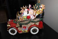 Fitz & Floyd Holiday Musical resin Santa Mobile Vintage Pick Up Truck presents