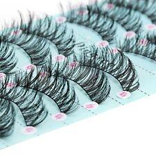 Gorgeous10 Pairs 3D Long Cross False Eyelashes Soft Eye Lashes Messy Handmade