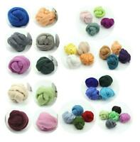 33 Colors 100g Wool Fibre Roving For Needle Felting Hand Spinning DIY Kit Gift