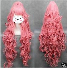 VOCALOI D-Megurine Luka 100cm PINK Anime Cosplay wig 1Clip Ponytail  &413