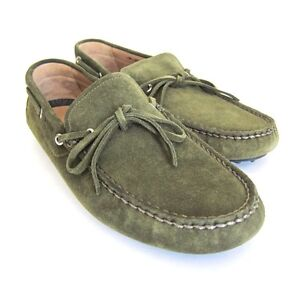 J-4490980 New Bally Dramer Military Suede Drivers Shoes Size US 10EEE Marked 9F
