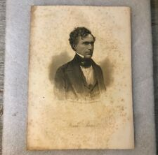 General Frank Pierce Original W.L. Ormsby Engraving From A Daguerreotype