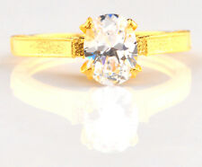 14KT Solid Yellow Gold 2.00 Carat Fantastic Oval Shape Solitaire Women's Ring