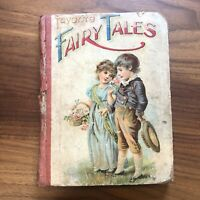FAVORITE FAIRY TALES~Antique Victorian Children's Picture Story Book Cinderella