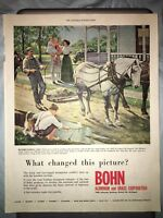 "1954 10""x13"" Bohn Aluminum & Brass Road Building Advertising Org Mag Print AD"