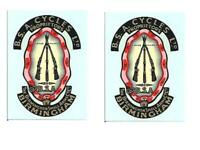 BSA Headstock and Oil Tank Decals Transfers Classic Motorcycle