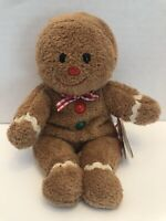 TY Beanie Baby - HANSEL the Gingerbread Man (7.5 inch) Rare! - MWMTs Stuffed Toy