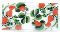 "SYDENSTRICKER Tray Fused Art Glass Strawberries Signed 12"" x 6"""