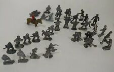 Lot of 34 Vintage Lead World War 2 Toy Metal Soldiers Pre-1970