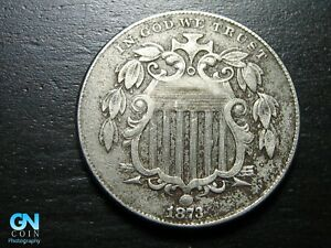 1873 Shield Nickel  --  MAKE US AN OFFER!  #B9742