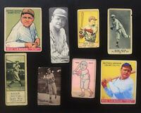 Babe Ruth Lot of 8 Aged Vintage Style Reprint Cards New York Yankees MLB