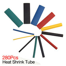 Kit tubo envoltura alambre eléctrico cable encogimiento encogimiento calor 280Pc