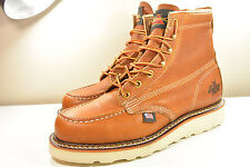 """DS 2016 MADE IN USA THOROGOOD 6"""" MOC TOE WEDGE GENUINE LEATHER BROWN BOOTS 7"""