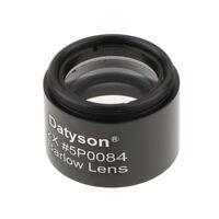 "1.25"" (31.7mm) 2X Barlow Lens M28.6*0.6 Thread for Telescope Eyepiece Black"