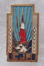 Insigne PINS ANCIENS CJF Chantiers de Jeunesse France métal peint ORIGINAL