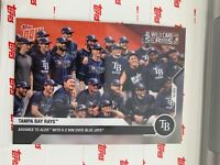 2020 TOPPS NOW AL WILD CARD CARD TAMPA BAY RAYS #336 ADAVNCE TO ALDS IN WIN