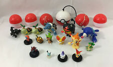 Nintendo Pokemon Lot of Figures & Balls Toys Pikachu Blastoise
