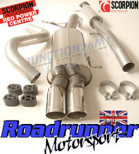 "Scorpion Fiesta ST180 ST200 3"" Race Exhaust Cat Back Stainless Resonated SFD074"