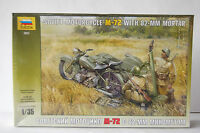 SOVIET M-72  with SIDECAR   WW2  1/35th  MODEL  MOTORCYCLE  KIT