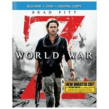 World War Z (Blu-ray, 2013, 1-Disc Set, Unrated)