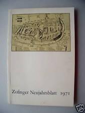 Zofinger Neujahrsblatt 1971 Schweiz Zofingen