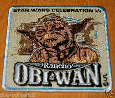 RARE Star Wars Celebration VI 6 Rancho Obi-Wan Yoda Patch New Unused Mint