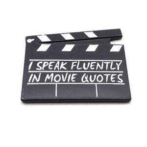 I Speak Fluently in Movie Quotes Metal Enamel pin button badge