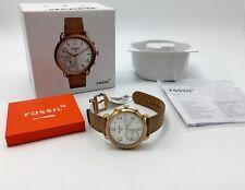 Fossil Q Women's Tailor GEN 2 Brown Leather Strap Hybrid Smart Watch FTW1129
