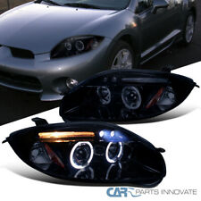 Glossy Piano Black Mitsubishi For 06-11 Eclipse LED Tinted Projector Headlights